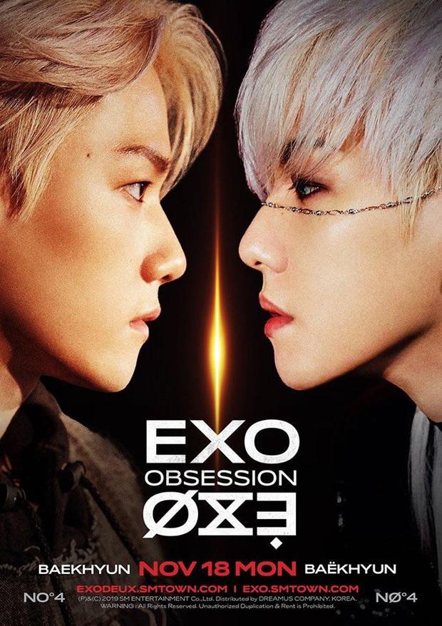 Baekhyun (EXO) đạt đỉnh cao nhan sắc với combo tóc trắng lens xanh, mê hoặc fan bởi thần thái cực xuất thần trong teaser come back - Ảnh 1.