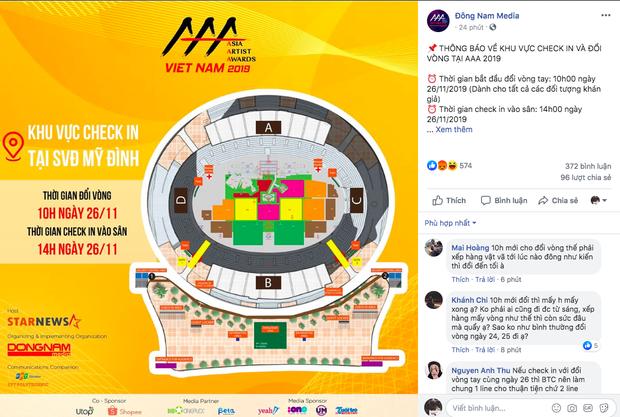 Sát ngày diễn ra sự kiện, BTC AAA 2019 khiến fan bức xúc vì báo sold-out nhưng giảm giá vé không công bằng, thay đổi giờ đổi vòng, check-in bất hợp lý - Ảnh 4.