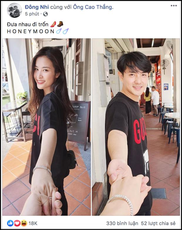 Đông Nhi - Ông Cao Thắng khoe ảnh tuần trăng mật ngọt ngào, hot đến mức fan phải thốt lên tốc độ like tăng quá khiếp - Ảnh 1.