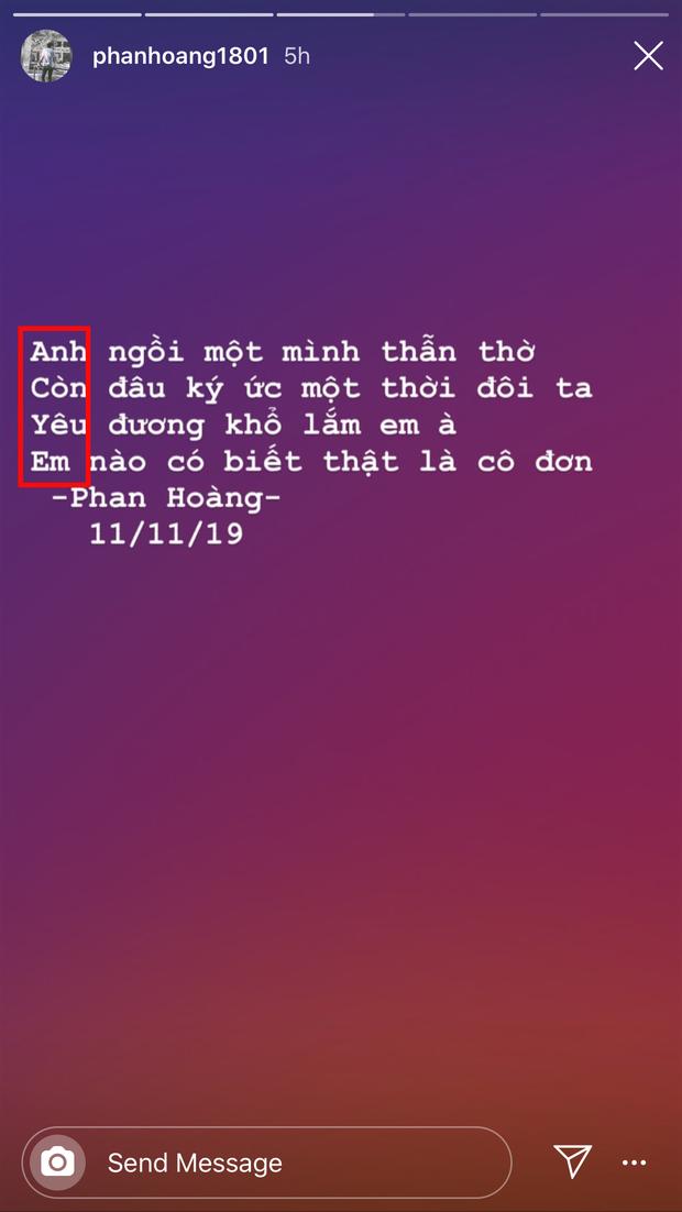 Phan Hoàng hóa thánh tán em Hà, viết thơ với bí mật lãng mạn ở đầu mỗi câu để làm lành với bạn gái cũ - Ảnh 3.