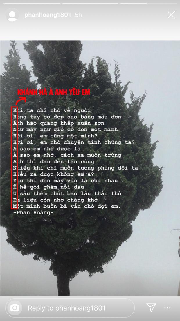 Phan Hoàng hóa thánh tán em Hà, viết thơ với bí mật lãng mạn ở đầu mỗi câu để làm lành với bạn gái cũ - Ảnh 2.