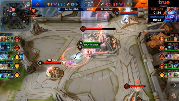 Tứ kết AIC 2019: HongKong Atitude tái hiện pha backdoor thần thánh của OverClockerS, tạo nên ván đấu hấp dẫn nhất Liên Quân Mobile thế giới - Ảnh 3.