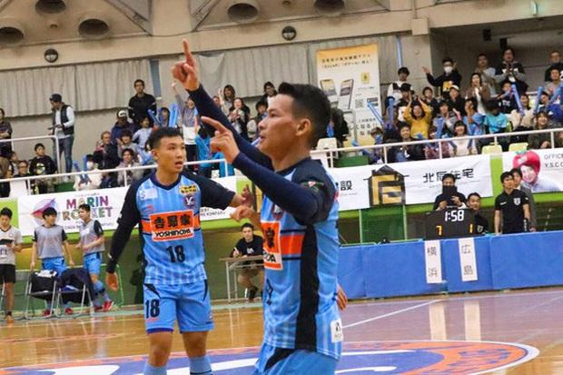 """Minh Trí, Thái Huy """"chào sân"""" ấn tượng trong màu áo Y.S.C.C. Yokohama tại F-League 2 - Ảnh 1."""