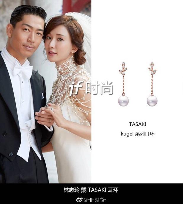 Đám cưới Lâm Chí Linh: Cận cảnh chiếc váy cưới phủ ngọc trai của cô dâu 45 tuổi - Ảnh 6.