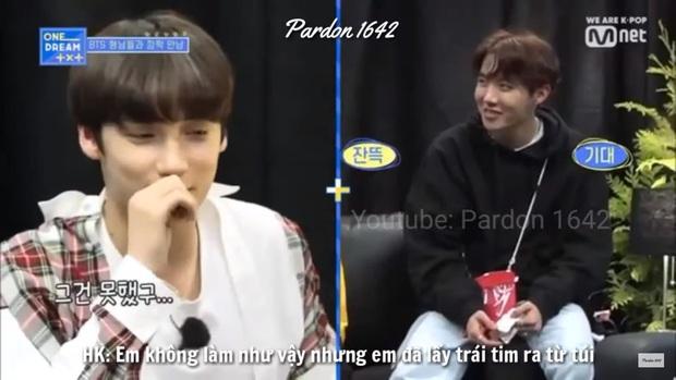 Mỹ nam TXT được đàn anh BTS truyền lại cách bắn tim thả thính fan cute khó cưỡng - Ảnh 6.