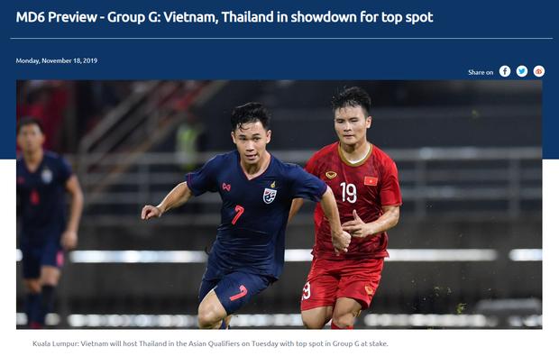 Trang chủ LĐBĐ châu Á: Tuyển Việt Nam là đội cửa trên và sẽ hướng tới 3 điểm tiếp theo trước Thái Lan - Ảnh 1.