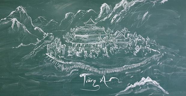 Thầy giáo vẽ tranh phong cảnh bằng phấn đẹp rụng rời, chi tiết nào cũng khiến dân mạng xuýt xoa thán phục - Ảnh 7.