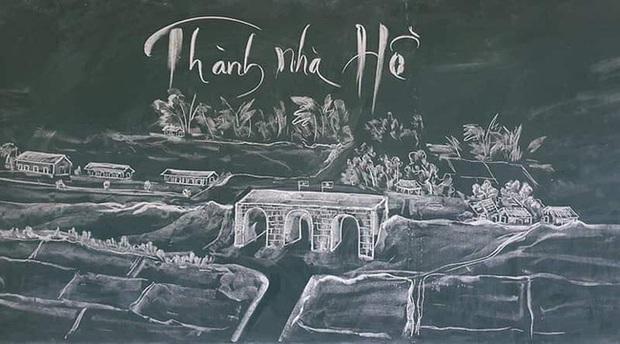 Thầy giáo vẽ tranh phong cảnh bằng phấn đẹp rụng rời, chi tiết nào cũng khiến dân mạng xuýt xoa thán phục - Ảnh 8.