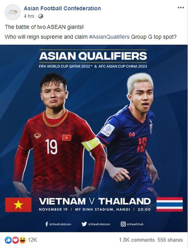 Fanpage chính chủ 44 triệu lượt thích của FIFA nhấn mạnh: Việt Nam đấu Thái Lan là trận cầu tâm điểm vòng loại World Cup - Ảnh 3.