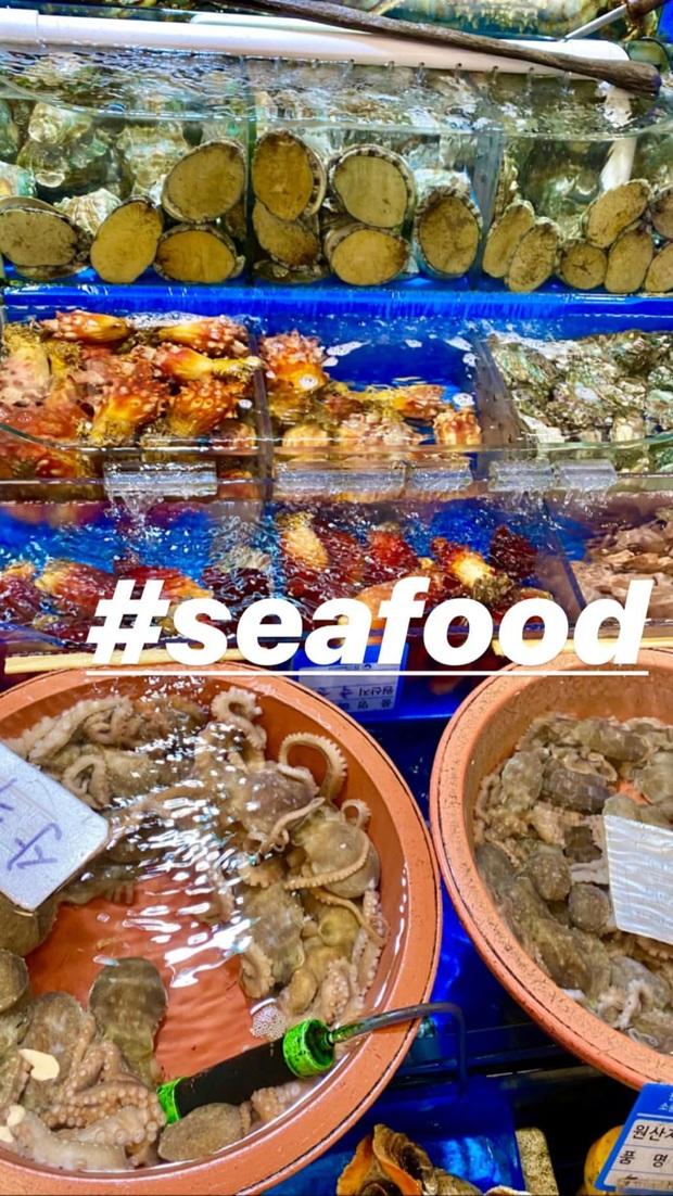 Đến chợ hải sản lớn nhất Seoul ăn cua hoàng đế mà mải mặc cả quá, mãi sau Kỳ Duyên mới phát hiện ra chú cua đã bị rụng mất một chân - Ảnh 1.
