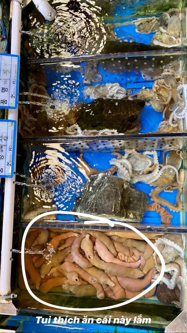 Đến chợ hải sản lớn nhất Seoul ăn cua hoàng đế mà mải mặc cả quá, mãi sau Kỳ Duyên mới phát hiện ra chú cua đã bị rụng mất một chân - Ảnh 4.