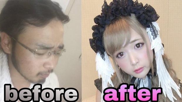 Sự thần kỳ của make-up: Youtuber Nhật Bản biến hoá vi diệu từ một người đàn ông trung niên thành cô gái dễ thương trong vỏn vẻn vài phút - Ảnh 1.