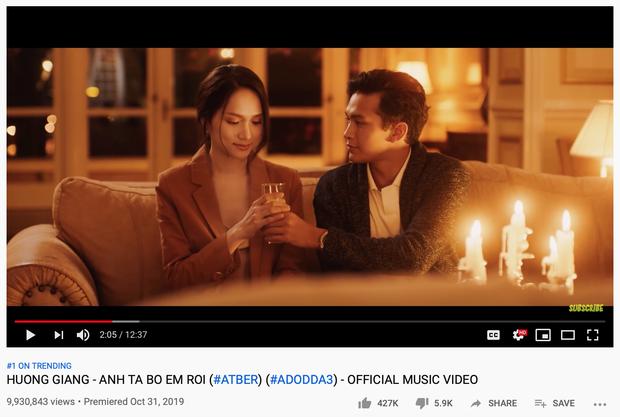 Sức mạnh tuesday cuối cùng đã lên ngôi, Hương Giang vượt mặt Nguyễn Trần Trung Quân và Hậu Hoàng để giành ngôi Top 1 Trending Youtube! - Ảnh 2.