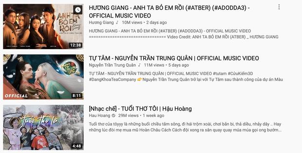 Sức mạnh tuesday cuối cùng đã lên ngôi, Hương Giang vượt mặt Nguyễn Trần Trung Quân và Hậu Hoàng để giành ngôi Top 1 Trending Youtube! - Ảnh 1.