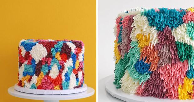 """Bánh kem lấy cảm hứng từ tấm thảm xù xì lại còn """"tắc kè hoa"""" thì sẽ như thế nào? - Ảnh 1."""