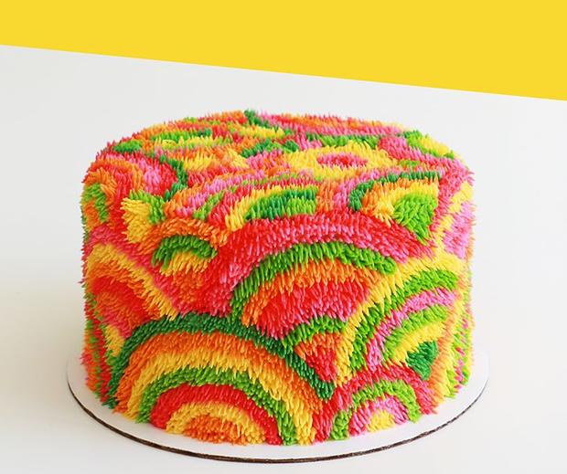"""Bánh kem lấy cảm hứng từ tấm thảm xù xì lại còn """"tắc kè hoa"""" thì sẽ như thế nào? - Ảnh 4."""