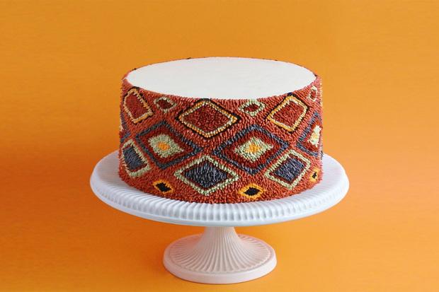"""Bánh kem lấy cảm hứng từ tấm thảm xù xì lại còn """"tắc kè hoa"""" thì sẽ như thế nào? - Ảnh 6."""