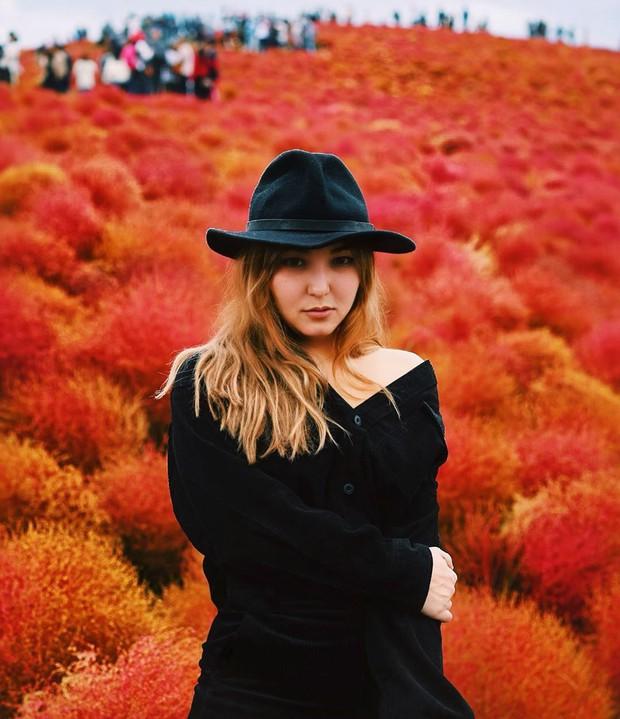 Đẹp nhất Nhật Bản mùa này chính là đồi cỏ Kochia đỏ rực, du khách đua nhau check-in đông không thấy lối đi - Ảnh 25.