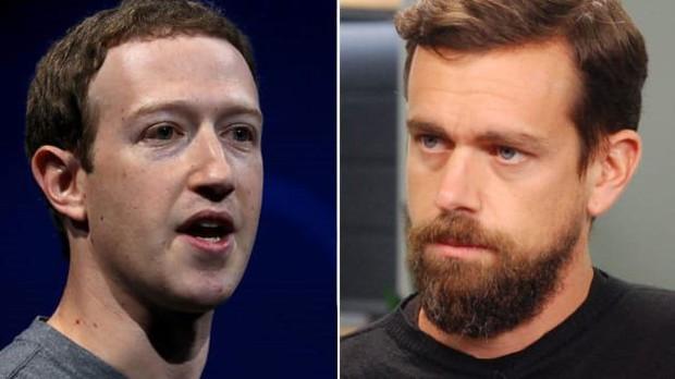 """Khi 2 hai """"ông trùm"""" mạng xã hội Mỹ cà khịa lẫn nhau: CEO Facebook và Twitter ngấm ngầm đối đầu quan điểm - Ảnh 1."""