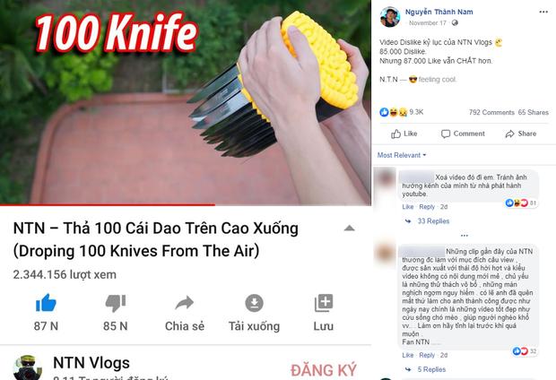 NTN Vlogs vẫn tiếp tục ra video thách thức dư luận dù nhận nhiều gạch đá, tự hào với kỷ lục Dislike - Ảnh 1.
