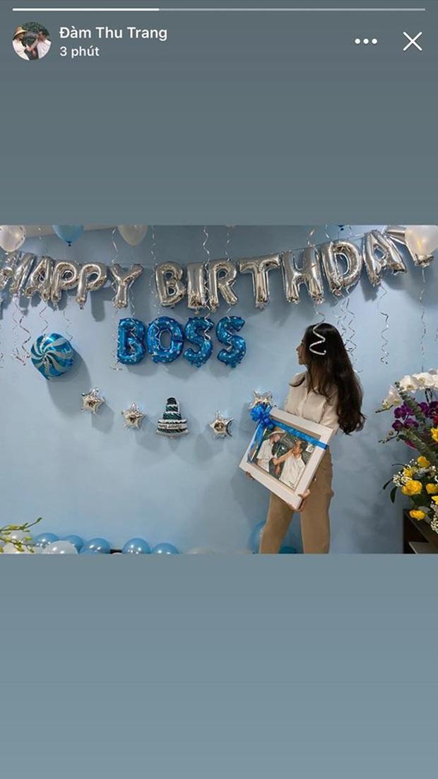 Được Cường Đô La mừng sinh nhật sớm, Đàm Thu Trang lần đầu để lộ vóc dáng sau tin đồn mang thai con đầu lòng - Ảnh 1.