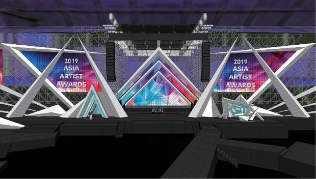 Sân khấu lễ trao giải AAA 2019 hội tụ TWICE, Yoona và quân đoàn sao Hàn ở SVĐ Mỹ Đình bắt đầu xây dựng: Sao khủng thế này? - Ảnh 2.