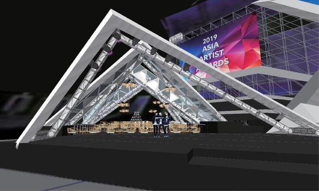 Sân khấu lễ trao giải AAA 2019 hội tụ TWICE, Yoona và quân đoàn sao Hàn ở SVĐ Mỹ Đình bắt đầu xây dựng: Sao khủng thế này? - Ảnh 3.