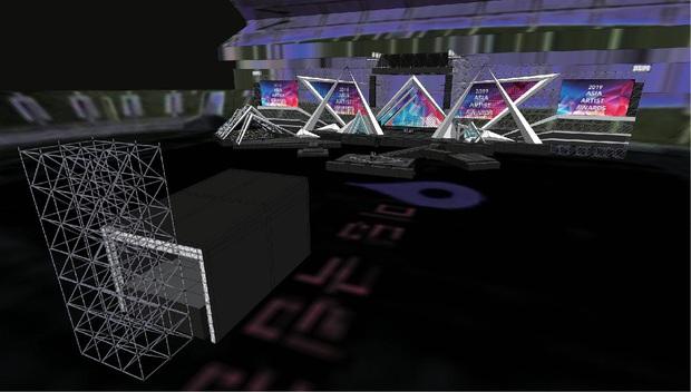 Sân khấu lễ trao giải AAA 2019 hội tụ TWICE, Yoona và quân đoàn sao Hàn ở SVĐ Mỹ Đình bắt đầu xây dựng: Sao khủng thế này? - Ảnh 1.