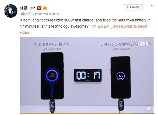 Sạc đầy pin 4000mAh trong 17 phút: Công nghệ sạc thần thánh của Xiaomi đã sẵn sàng ra lò - Ảnh 1.