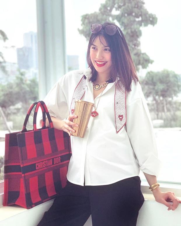 """Sắp làm mẹ bỉm sữa, Lan Khuê vẫn thể hiện đẳng cấp đại gia khi sắm liền 3 túi """"khủng"""" hơn 200 triệu trước khi sinh nở - Ảnh 5."""