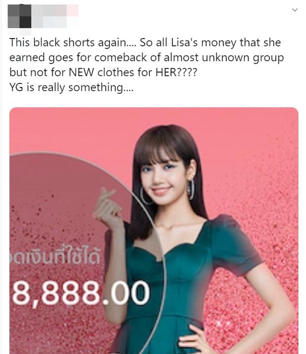 Thấy Lisa mặc đi mặc lại 1 chiếc quần trong suốt 3 năm, fan BLACKPINK phẫn nộ tố YG vô tâm, hời hợt - Ảnh 8.