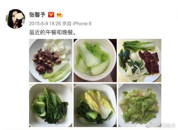 Quy tắc ăn uống ngặt nghèo của mỹ nhân Cbiz: Dương Mịch chỉ dám ăn 1 cọng mỳ, Trương Hinh Dư ăn rau trừ bữa - Ảnh 6.