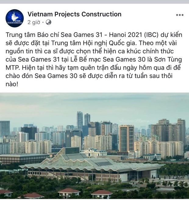Đại diện BTC chính thức phản hồi trước thông tin Sơn Tùng M-TP là nghệ sĩ thể hiện ca khúc chủ đề SEA Games 31 - Ảnh 1.