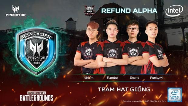 Refund, Divine, SGD và nhiều đội tuyển PUBG hàng đầu Việt Nam sẽ góp mặt tại giải đấu Predator League 2020 - Ảnh 1.