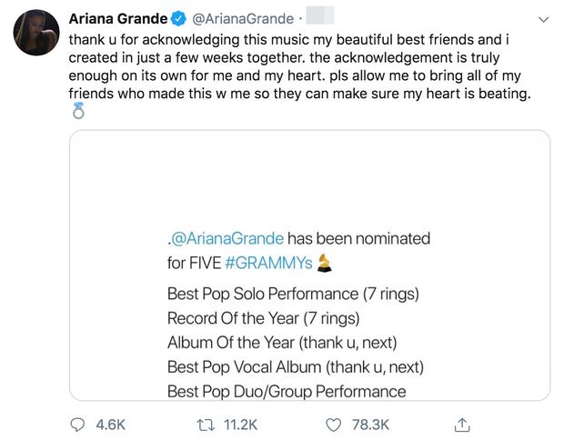 Grammy 2020 chính thức công bố đề cử: Ariana Grande khỏi bệnh ngay lập tức, Halsey tức giận trách nước Mỹ thay fan BTS - Ảnh 1.