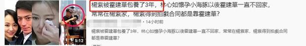 Sốc trước tin đồn Hoắc Kiến Hoa bao nuôi Dương Tử 3 năm nay, Lâm Tâm Như uất ức đòi ly hôn - Ảnh 1.