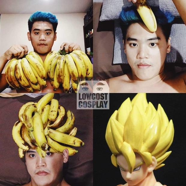 """""""Thánh Cosplay"""" sáng tạo đỉnh cao không tốn một xu khiến ai cũng phải chào thua: Tóc Son Goku làm từ chuối, râu Aqua Man làm từ băng keo - Ảnh 6."""