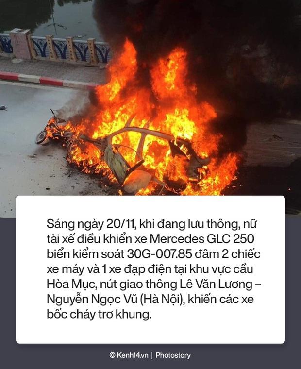 Toàn cảnh vụ nữ tài xế lái xe Mercedes gây tai nạn liên hoàn rồi bốc cháy khiến 1 cô gái tử vong - Ảnh 1.