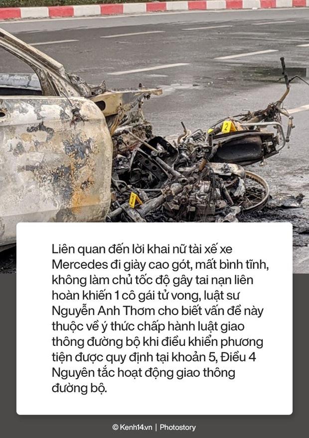 Toàn cảnh vụ nữ tài xế lái xe Mercedes gây tai nạn liên hoàn rồi bốc cháy khiến 1 cô gái tử vong - Ảnh 13.