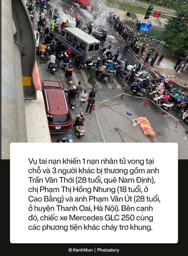 Toàn cảnh vụ nữ tài xế lái xe Mercedes gây tai nạn liên hoàn rồi bốc cháy khiến 1 cô gái tử vong - Ảnh 3.