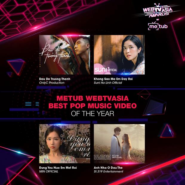 Hoàng Thùy Linh, Bích Phương, Chi Pu, Jack & K-ICM... chạm trán khốc liệt tại đề cử WebTVAsia Awards 2019 - Ảnh 4.