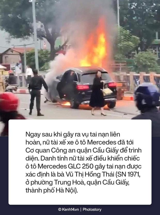 Toàn cảnh vụ nữ tài xế lái xe Mercedes gây tai nạn liên hoàn rồi bốc cháy khiến 1 cô gái tử vong - Ảnh 4.