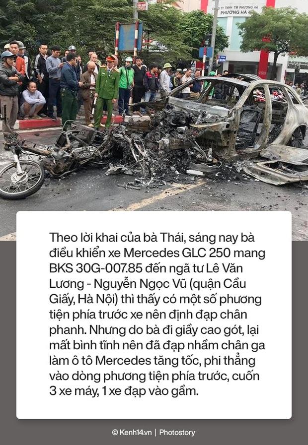 Toàn cảnh vụ nữ tài xế lái xe Mercedes gây tai nạn liên hoàn rồi bốc cháy khiến 1 cô gái tử vong - Ảnh 5.