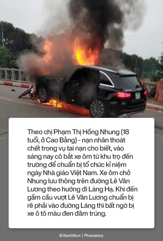 Toàn cảnh vụ nữ tài xế lái xe Mercedes gây tai nạn liên hoàn rồi bốc cháy khiến 1 cô gái tử vong - Ảnh 6.
