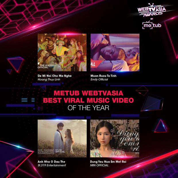 Hoàng Thùy Linh, Bích Phương, Chi Pu, Jack & K-ICM... chạm trán khốc liệt tại đề cử WebTVAsia Awards 2019 - Ảnh 8.