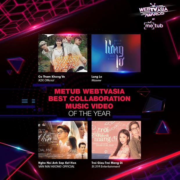 Hoàng Thùy Linh, Bích Phương, Chi Pu, Jack & K-ICM... chạm trán khốc liệt tại đề cử WebTVAsia Awards 2019 - Ảnh 9.