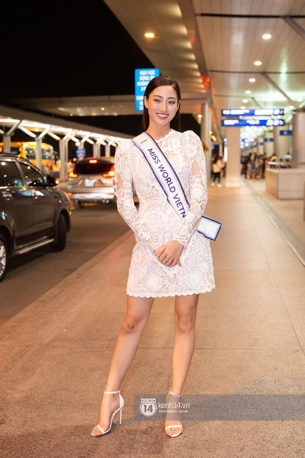 Đỗ Mỹ Linh, Tiểu Vy và dàn mỹ nhân gây náo loạn sân bay khi tiễn Thùy Linh lên đường đi Anh dự thi Miss World - Ảnh 4.