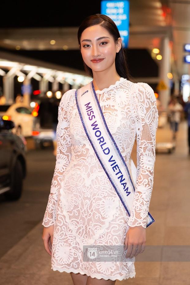 Đỗ Mỹ Linh, Tiểu Vy và dàn mỹ nhân gây náo loạn sân bay khi tiễn Thùy Linh lên đường đi Anh dự thi Miss World - Ảnh 3.