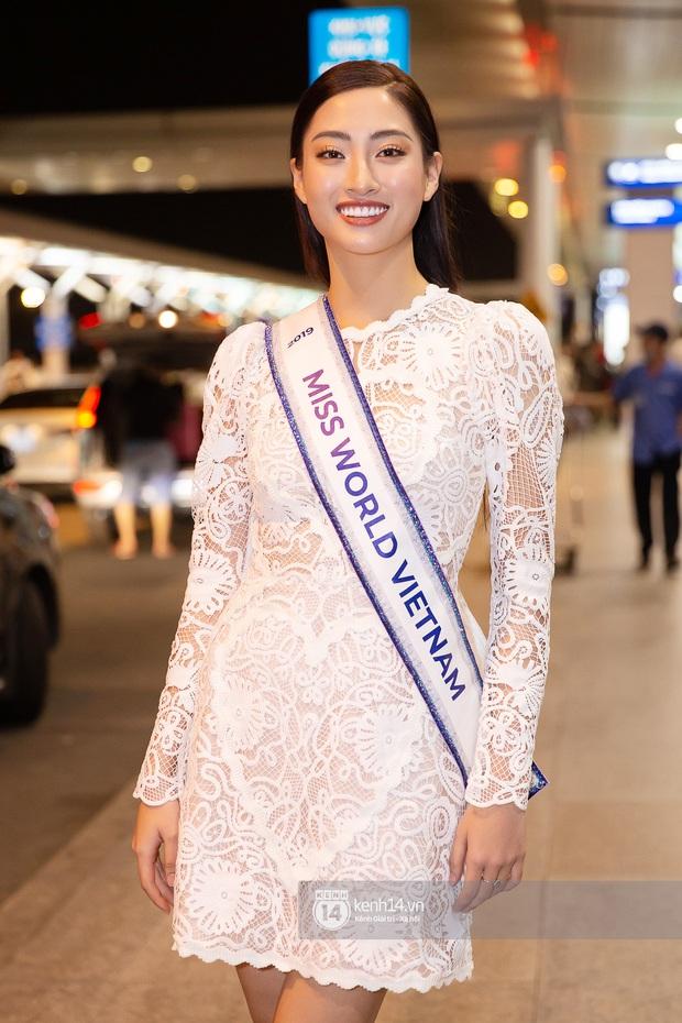 Đỗ Mỹ Linh, Tiểu Vy và dàn mỹ nhân gây náo loạn sân bay khi tiễn Thùy Linh lên đường đi Anh dự thi Miss World - Ảnh 2.