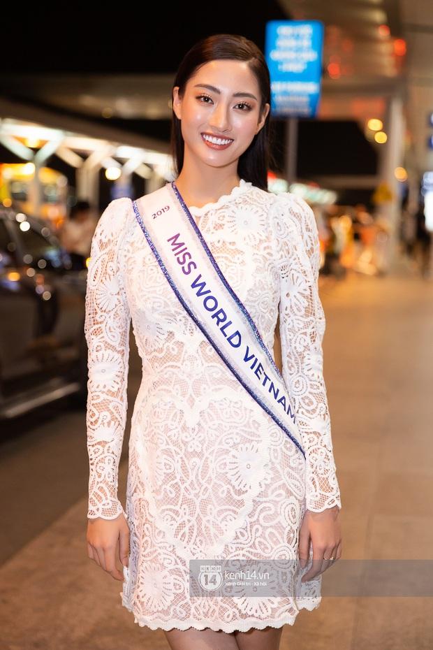Đỗ Mỹ Linh, Tiểu Vy và dàn mỹ nhân gây náo loạn sân bay khi tiễn Thùy Linh lên đường đi Anh dự thi Miss World - Ảnh 1.